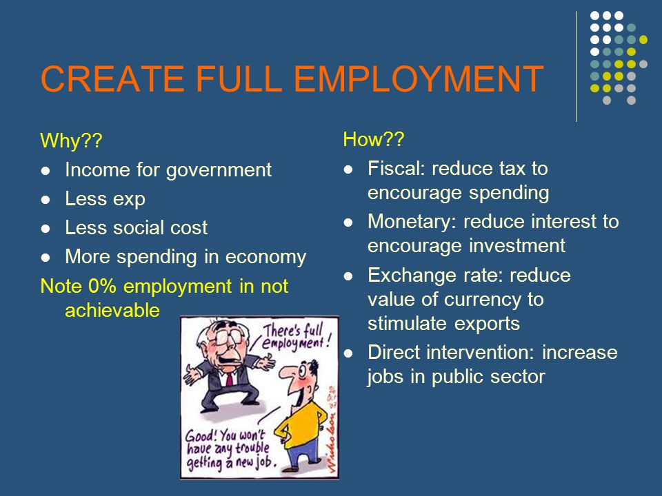CREATE FULL EMPLOYMENT