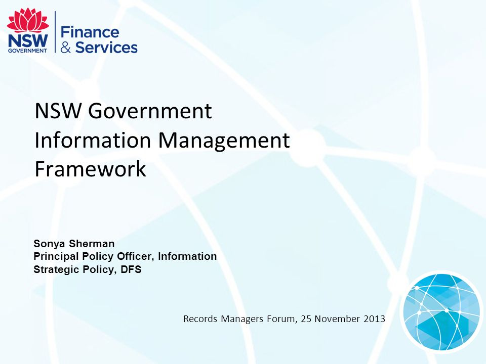 NSW Government Information Management Framework
