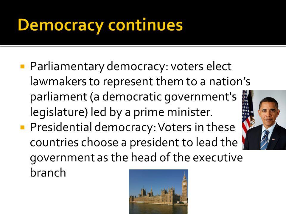 Democracy continues