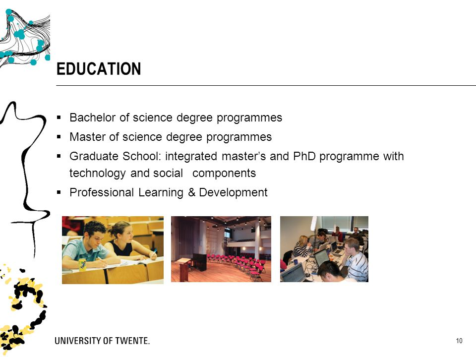 EDUCATION Bachelor of science degree programmes