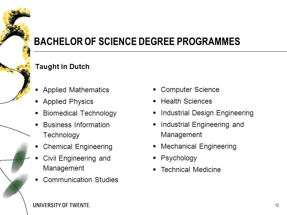 BACHELOR OF SCIENCE DEGREE PROGRAMMES