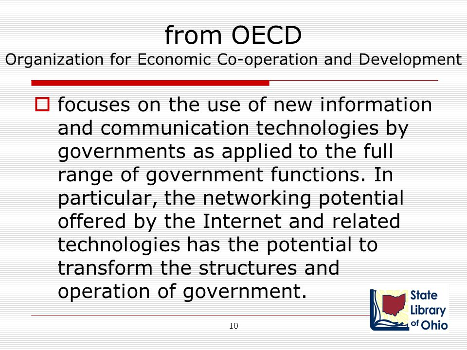 from OECD Organization for Economic Co-operation and Development