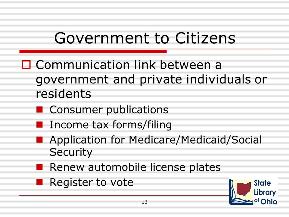 Government to Citizens