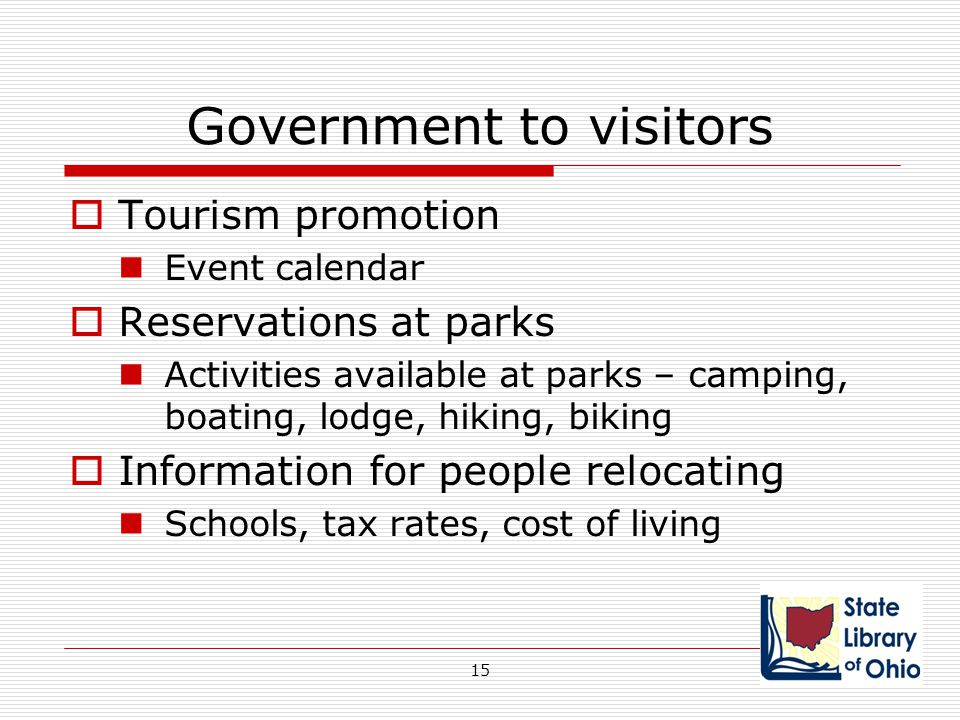 Government to visitors