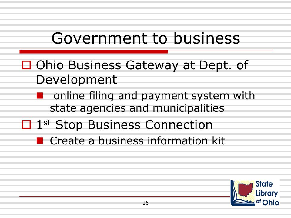 Government to business