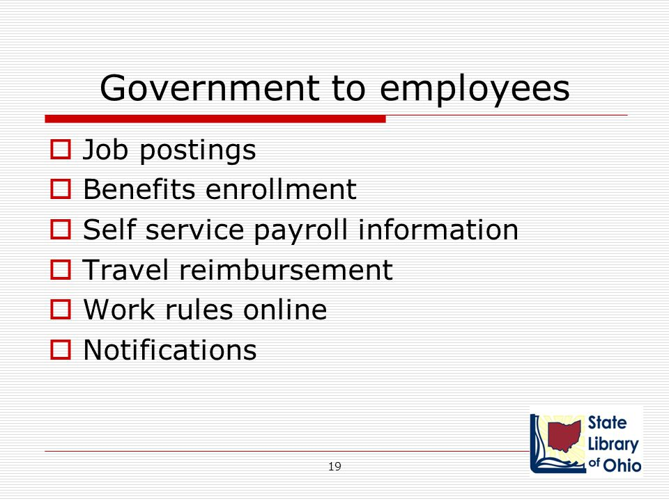 Government to employees