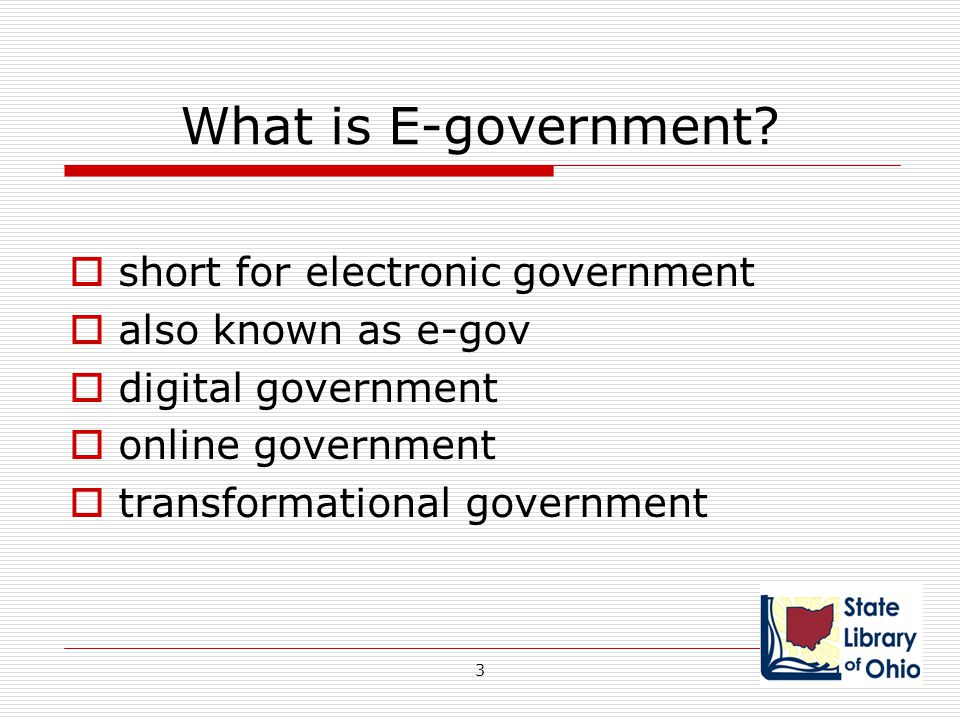What is E-government short for electronic government