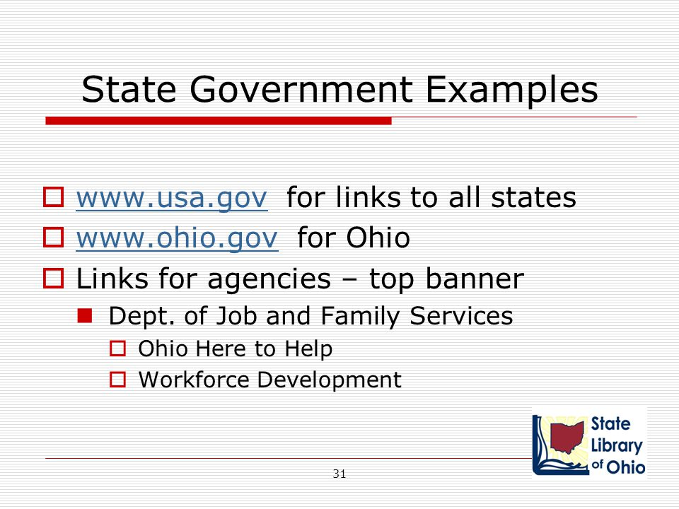 State Government Examples