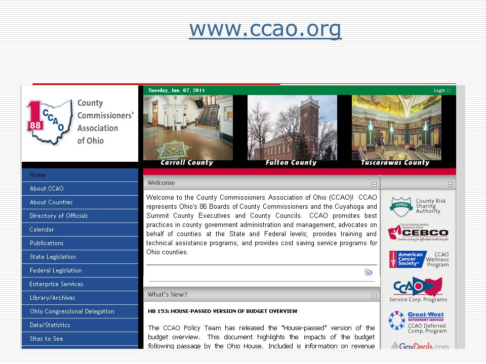 www.ccao.org Click on about counties for links to individual county web sites