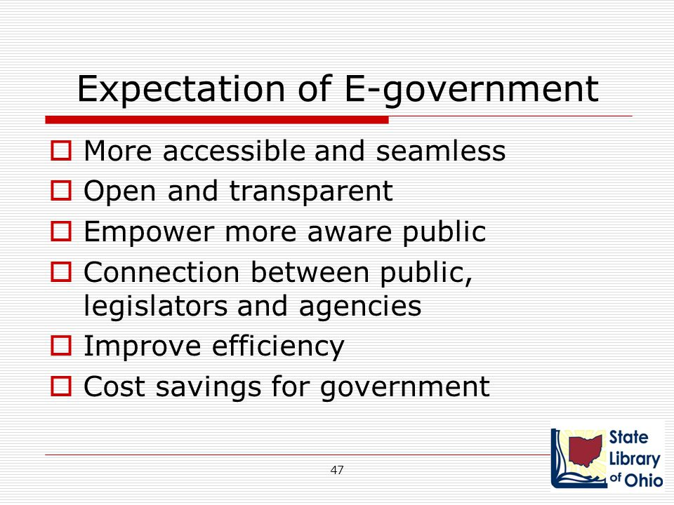 Expectation of E-government