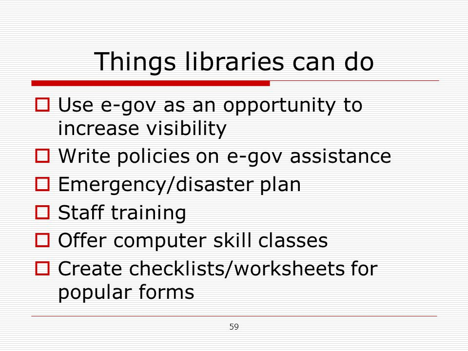 Things libraries can do