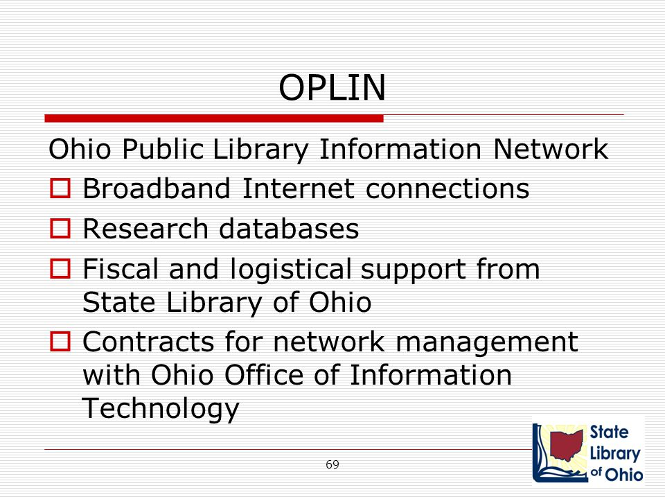 OPLIN Ohio Public Library Information Network