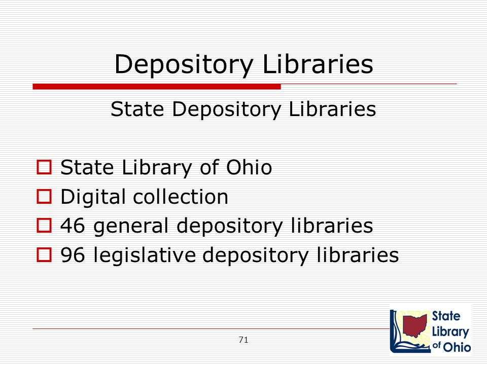 State Depository Libraries