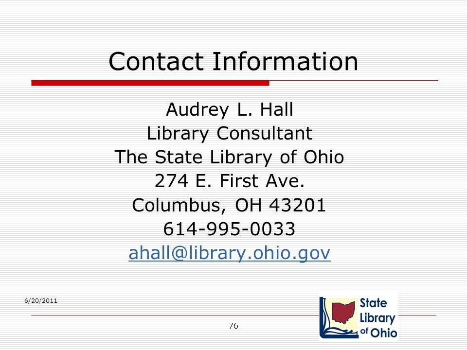 The State Library of Ohio