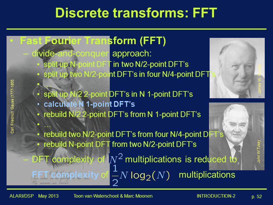 Discrete transforms: FFT