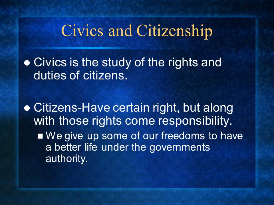 Civics and Citizenship
