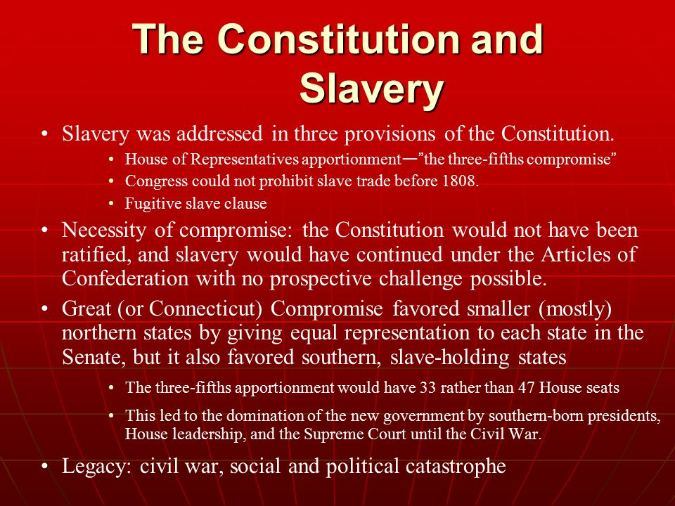 The Constitution and Slavery