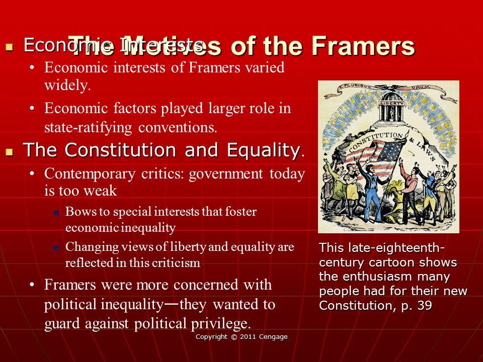 The Motives of the Framers