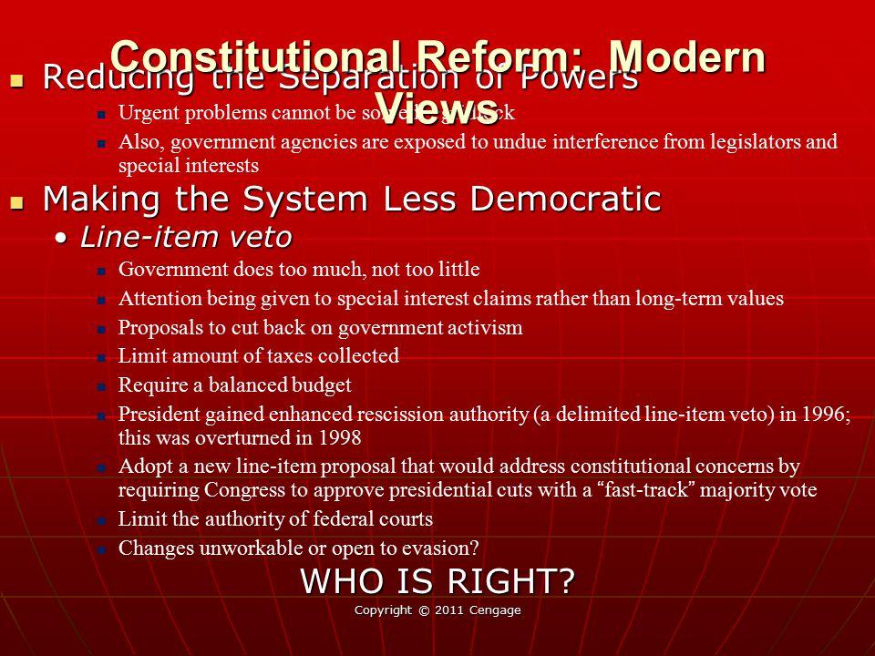 Constitutional Reform: Modern Views