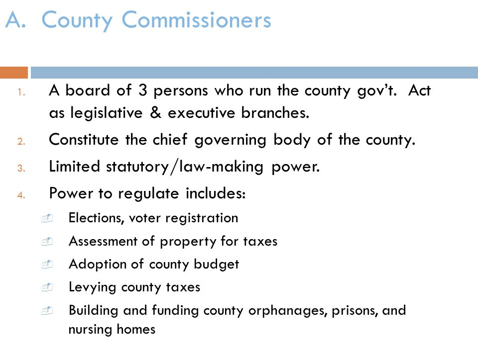 A. County Commissioners
