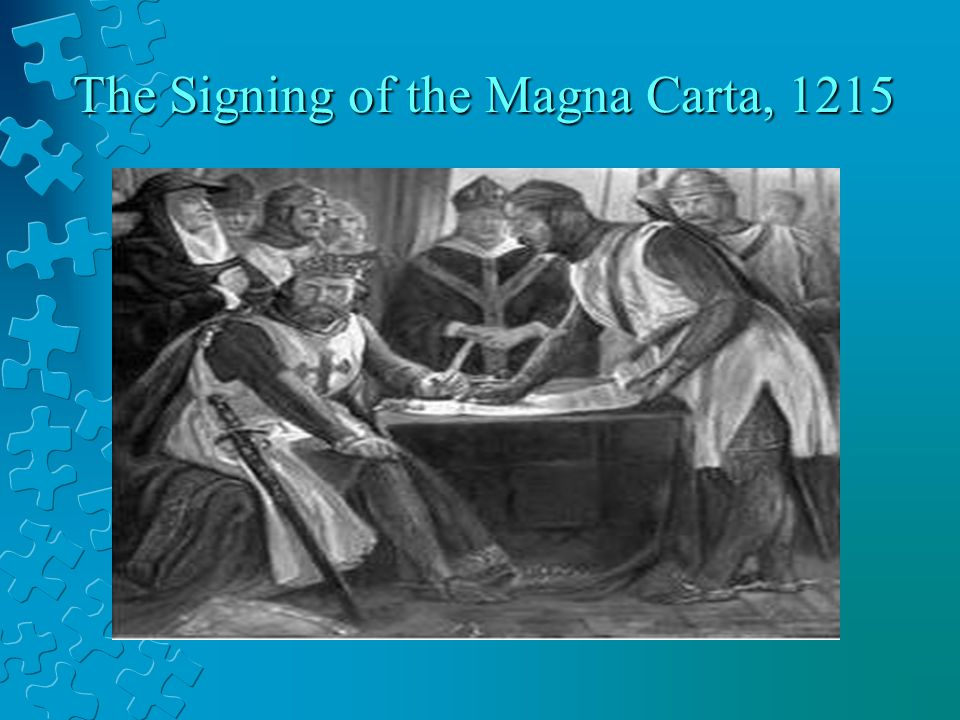 The Signing of the Magna Carta, 1215