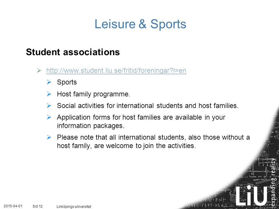 Leisure & Sports Student associations
