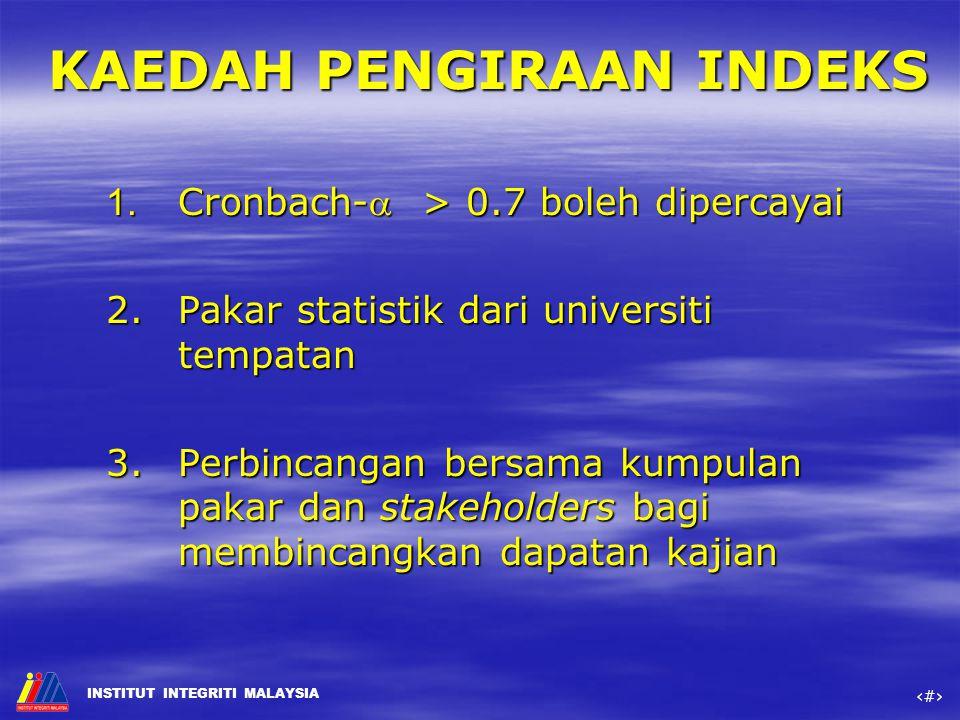 KAEDAH PENGIRAAN INDEKS