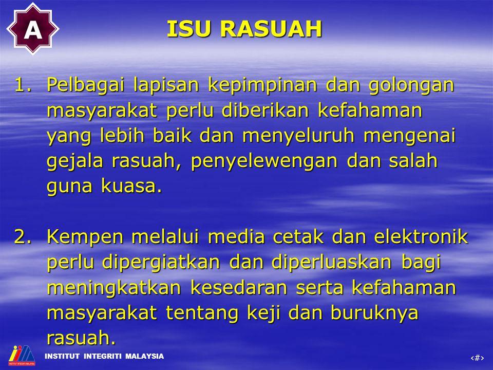 A ISU RASUAH.