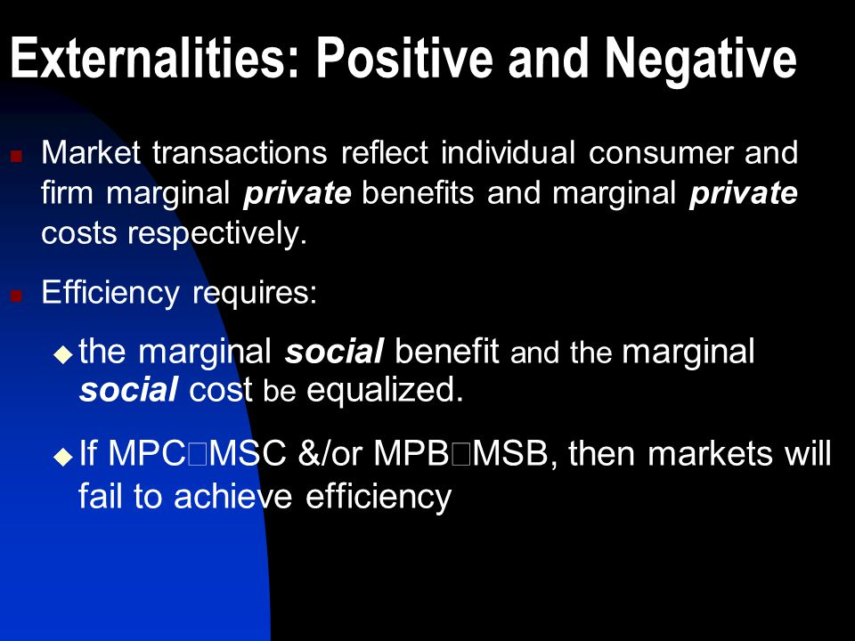 Externalities: Positive and Negative