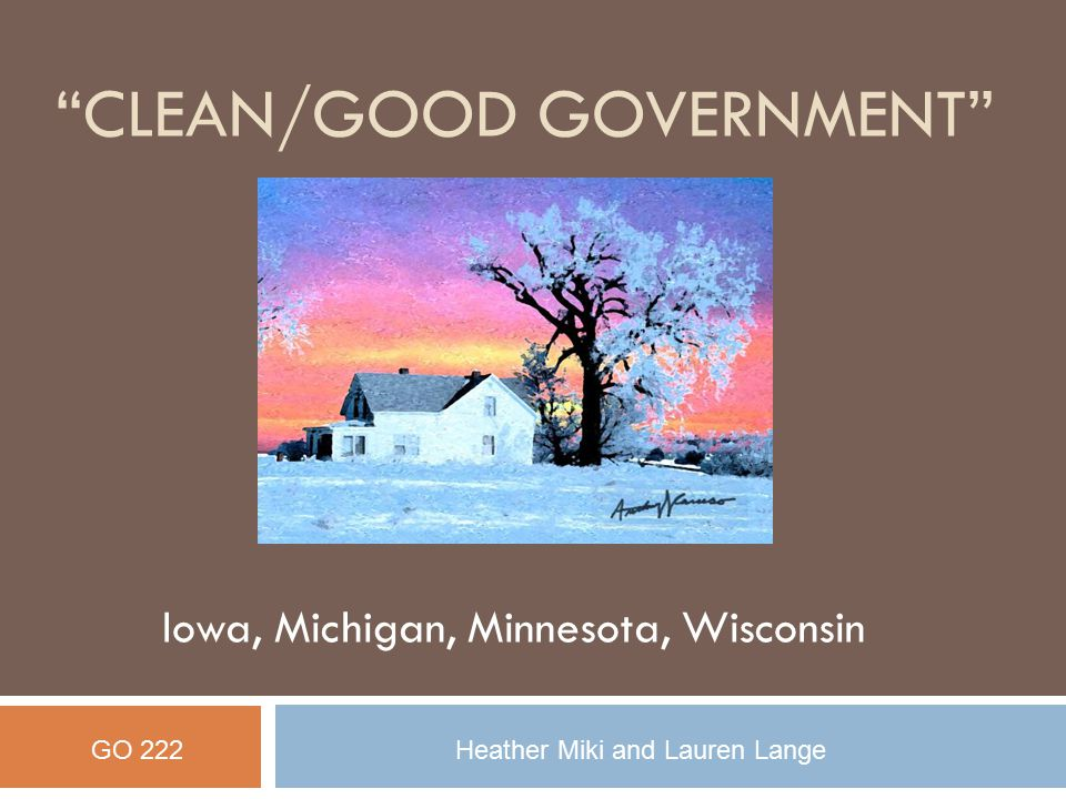 CLEAN/Good Government