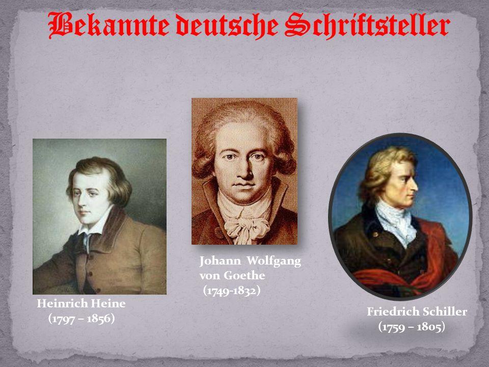 Bekannte deutsche Schriftsteller