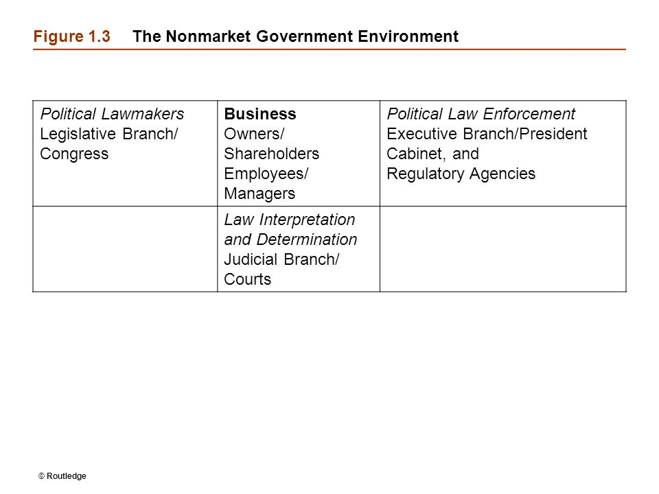 Figure 1.3 The Nonmarket Government Environment