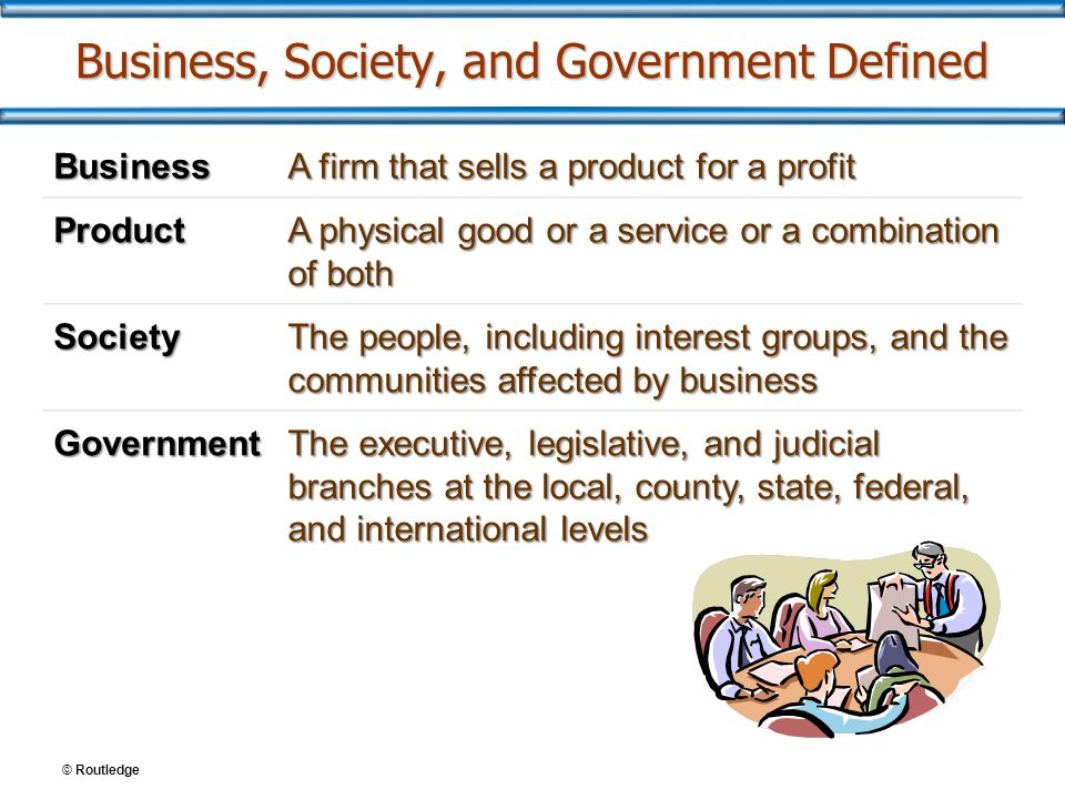 Business, Society, and Government Defined
