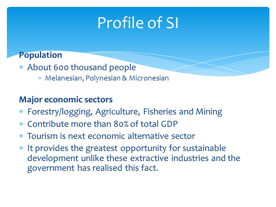 Profile of SI Population About 600 thousand people