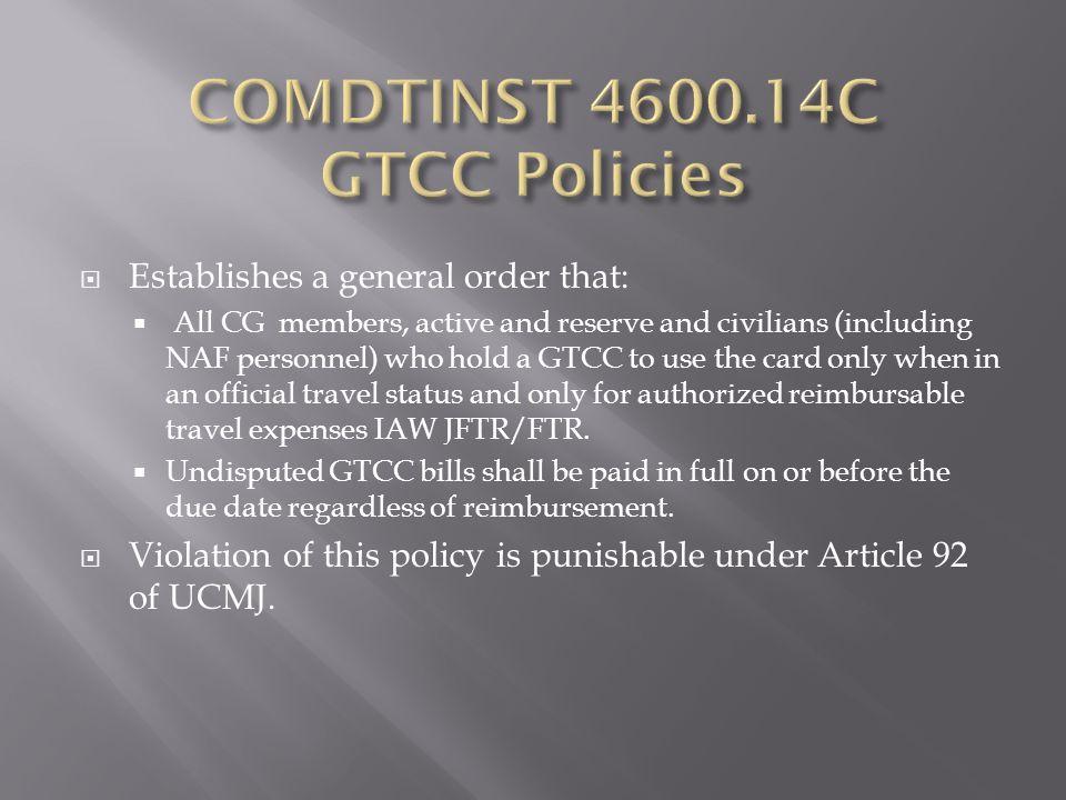 COMDTINST 4600.14C GTCC Policies