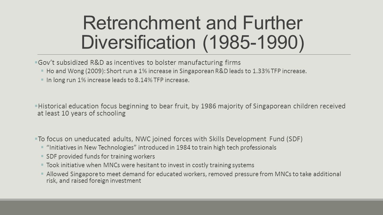 Retrenchment and Further Diversification (1985-1990)
