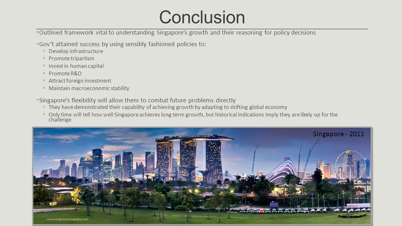 Conclusion Singapore - 2011
