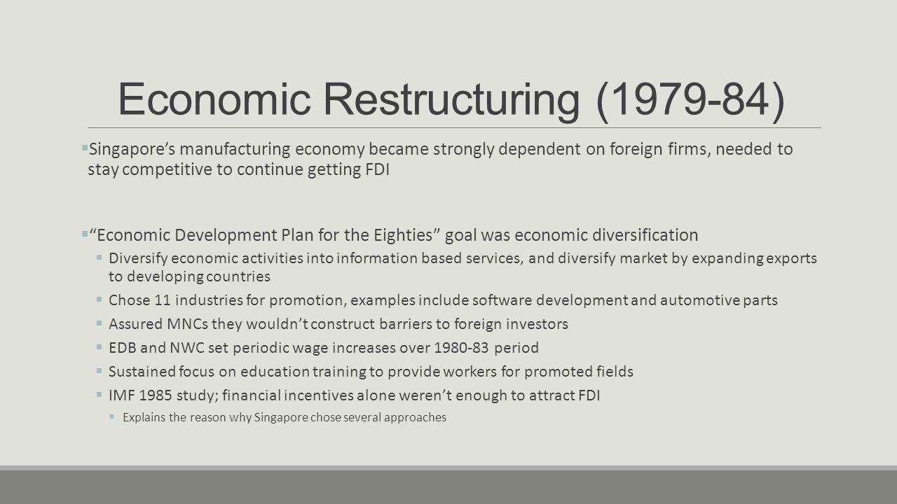 Economic Restructuring (1979-84)