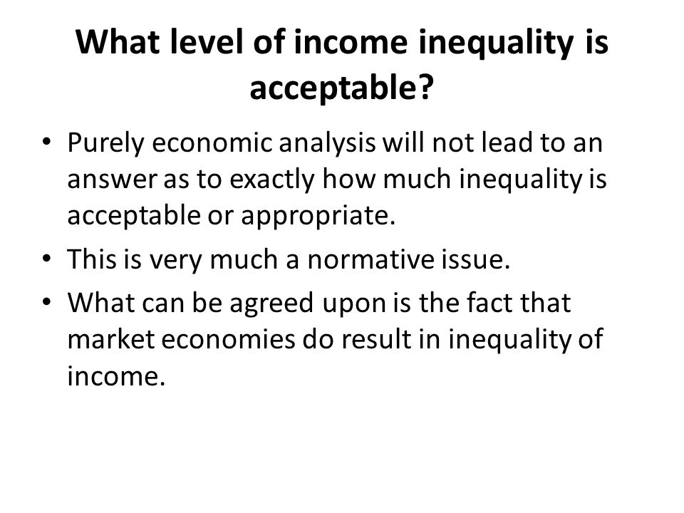 What level of income inequality is acceptable
