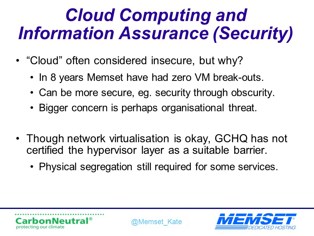 Cloud Computing and Information Assurance (Security)