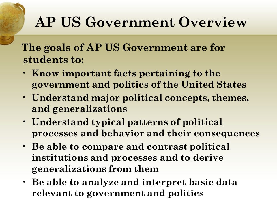 AP US Government Overview