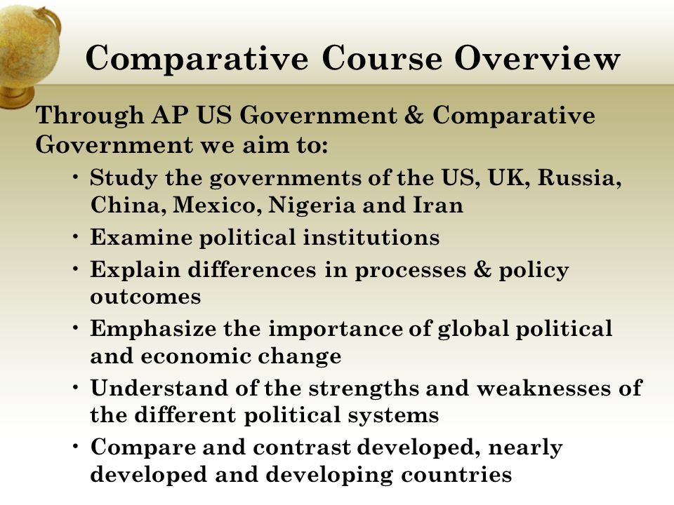 Comparative Course Overview