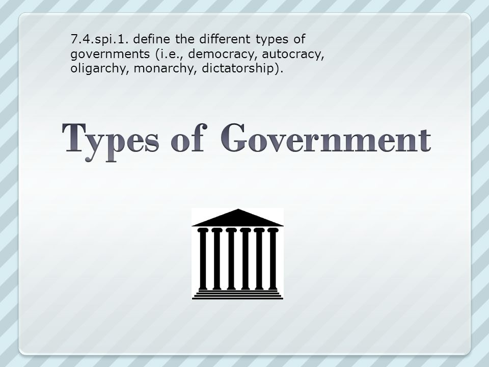 7. 4. spi. 1. define the different types of governments (i. e