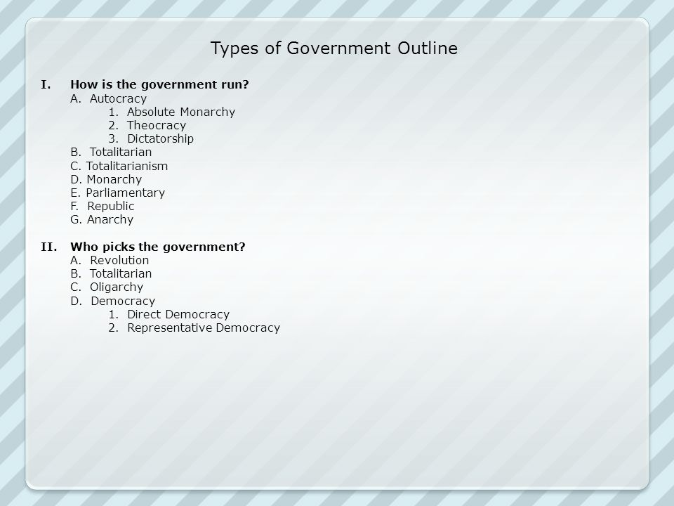 Types of Government Outline