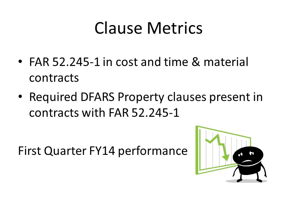 Clause Metrics FAR 52.245-1 in cost and time & material contracts