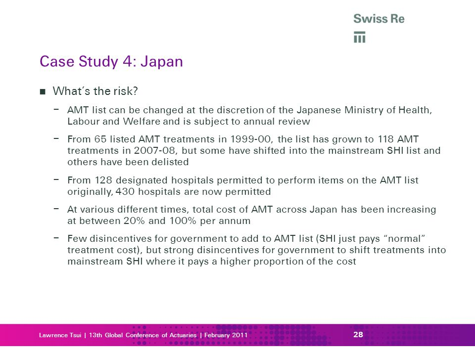 Case Study 4: Japan What's the risk