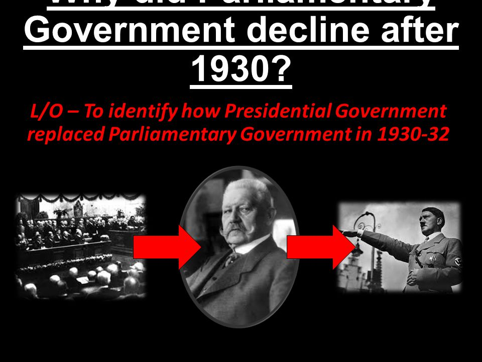 Why did Parliamentary Government decline after 1930