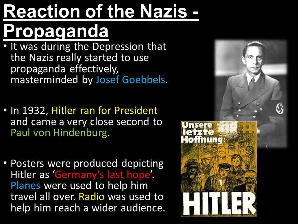 Reaction of the Nazis - Propaganda
