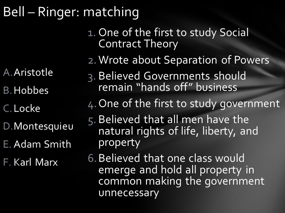Bell – Ringer: matching