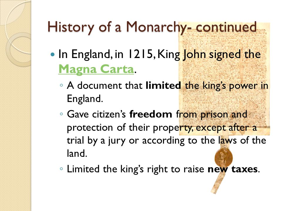 History of a Monarchy- continued
